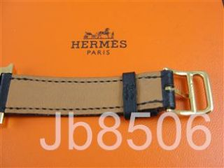 Auth Hermes H Our PM Gold Plated Ladies Watch
