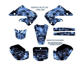 Honda CR 125 250 1998 99 MX Graphics Decals Kit 9500B