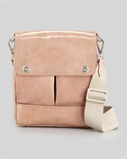 V1GPW Brunello Cucinelli Patent Pouch Pocket Crossbody Bag, Blush