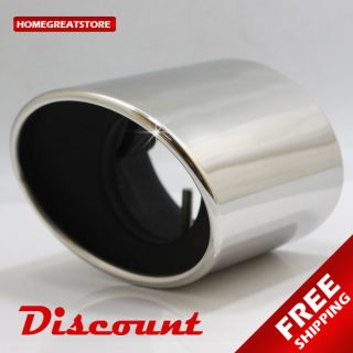New Stainless steel Chrome Exhaust Muffler Tip Honda Accord 2008 2009