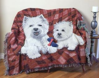 West Highland Terrier Dog Dogs Tapestry Throw Blanket