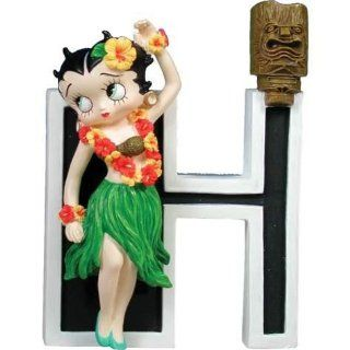 3.75 inch Betty Boop Dressed As A Hula Girl With Letter H