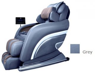 Montage Pro GREY Zero Gravity Full Body Massage Chair Recliner w/ LCD