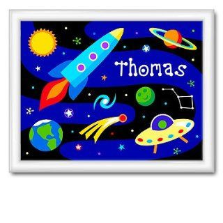 Olive Kids Out Of This World Large Framed Art  Gloss White