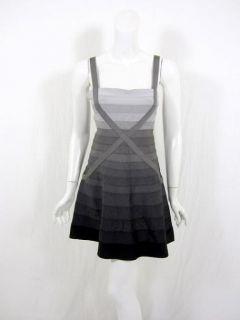 Herve Leger Womens Black Combo Bandage Dress XS $1490