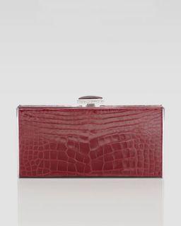 V156R Judith Leiber East West Rectangle Clutch Bag, Crimson