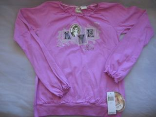 Hilary Duff Stuff Pink Poetry Top Shirt Size Large NWT