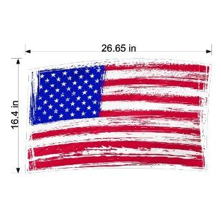 Peel and Stick American Flag Sticker Decal Removable