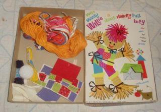 Vtg H Davis Toy Corp Doodly Hillbilly Childs Kids Craft Yarn Sew
