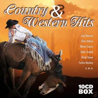 10 CD Country Western Hits Collection 10 CD Box Set
