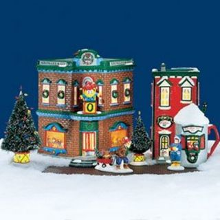 Department Dept 56 Snow Village Saturday Morning Downtown 8 Pieces