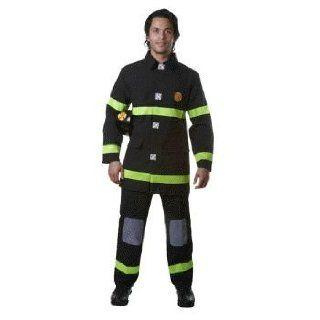 Fire Fighter (black) Adult Fireman Costume Size Large