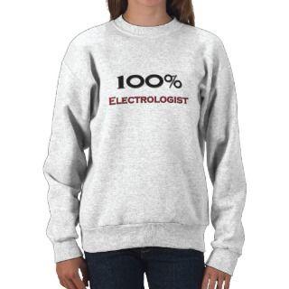 100 Percent Electrologist Pullover Sweatshirts