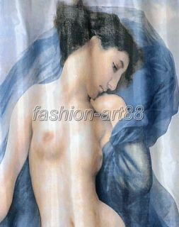 Sexy Nude Girl Picture Design Bathroom Fabric Beautiful Shower Curtain