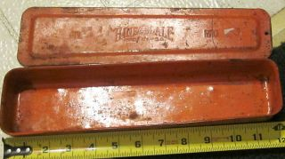 Vintage Hinsdale Tool Socket Set Ratchet Socket Wrench Tool Box Orange