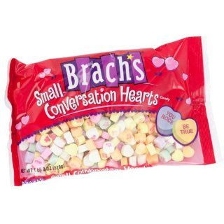 Brachs Candy Small Conversation Heart 21.5 Ounce Packages (Pack of 6