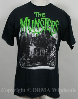 Authentic The Munsters TV Show Hot Rod T Shirt s M L XL XXL Official