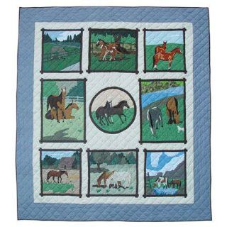 Horse Friends Duvet Cover Twin 68 X 86