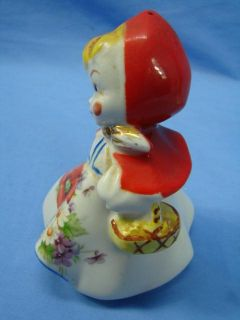 Vintage Hull Little Red Riding Hood Salt Pepper Shakers Figurines