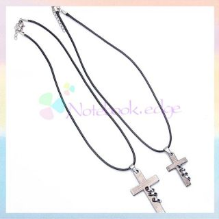 Romantic Lover Couples His and Hers Three Rings Cross Charm Pendant