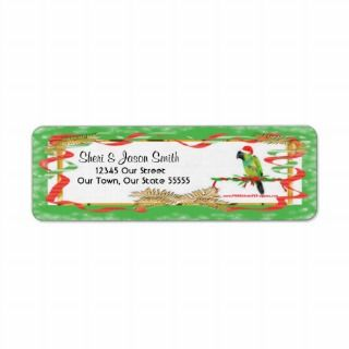 Conure Parrot Santa Christmas Return Labels