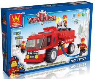 Building Blocks Set Fire House Kit 180 Pcs 39021 New in Nice Gift Box