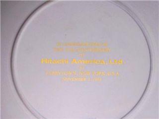 Hitachi America Wedgwood Blue Jasper Large 8 Plate