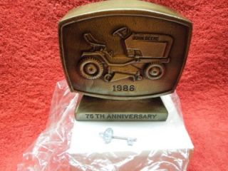 Mint in Box John Deere Horicon Works 75th Anniversary Bank from 1986