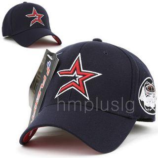 Houston Astros Flex Fit Baseball Ball Cap Hat MB Navy Blue