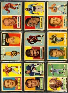 Topps Football Set Complete 154 Cards Unitas Starr Hornung EXMT