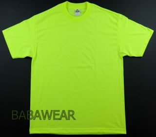 Shirts AAA High Visibility Neon Green Plain T Shirt Safety ALSTYLE