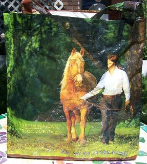 Recycled feed bag tote sack food Horse shopping Eco friendly Safe