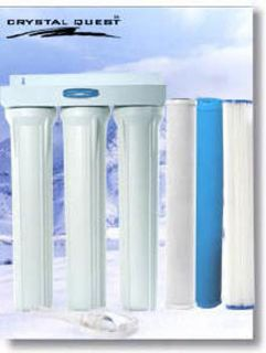 Quest 20 Triple Replaceable Cartridge Whole House Water Filter