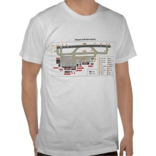 Diagram Basic Layout Infrastructure of an Airport Tshirt