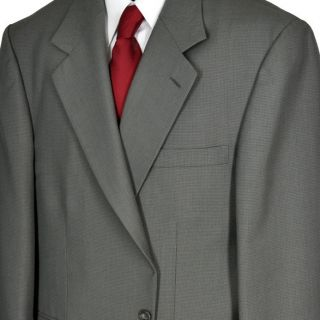 43R Andhurst Sage Tic Two Button Executive Wool Blend Suit