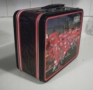 Detroit Red Wings Hockey NHL Metal Lunch Box Autograph