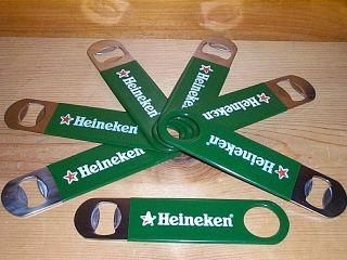 HEINEKEN RED STAR METAL BEER BOTTLE WRENCH OPENER