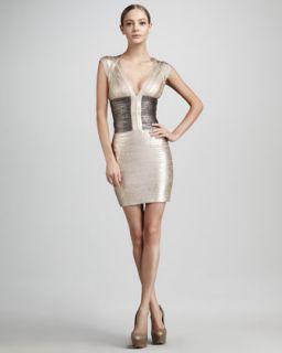 Jil Sander Colorblock Half Sleeve Dress