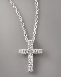 Y0MLQ Roberto Coin Pave Diamond Cross Necklace