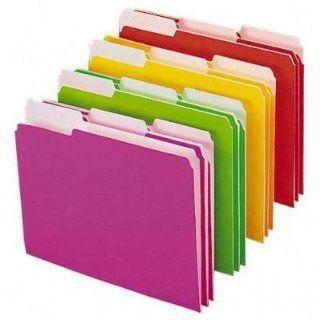 File Folder, Letter, 1/3 Tab, Neon Colors   File Folder