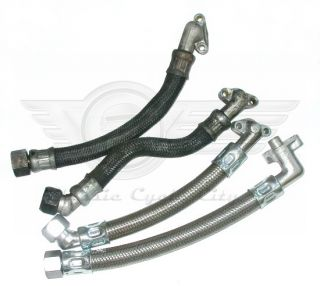 Stainless Steel Braided Oil Hoses Honda CB750 SOHC