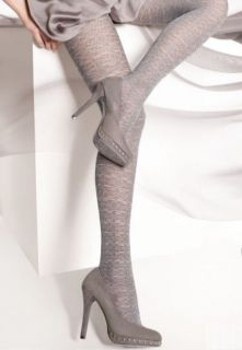 HOSIERY SILVER GRAY pattern tights pantyhose THANDIE 12 40 den size M