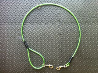 Green One Dog Cable Lead Leash Hog Dog Hunting Dog K9 Bird Dog