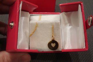 Helen Ficalora New York City NYC 14k yellow gold heart pendant charm