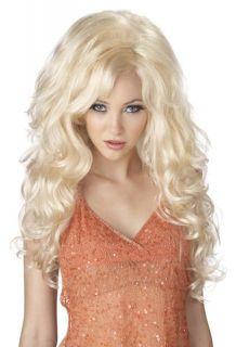 Bombshell Women Costume Wig Dolly Parton Video Vixen