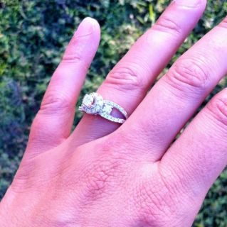 2500 Retail 14k White Gold DIAMOND RING Art DecoStyle Great Deal Make