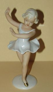 Vintage SCHAUBACH KUNST GERMANY Fine Porcelain Child Ballerina