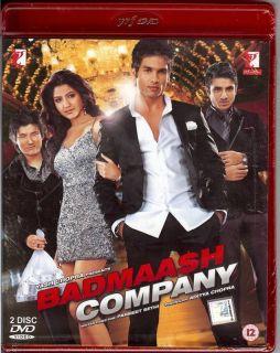 Badmaash Company Shahid Kapoor Hindi Movie DVD