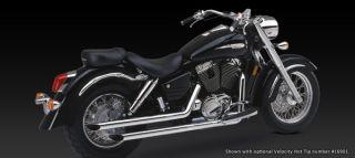 Vance Hines Exhaust Straightshots Chrome Honda Shadow Aero 1100 1998