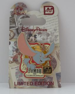Disney World 40th Anniversary Dumbo The Flying Elephant Le Pin